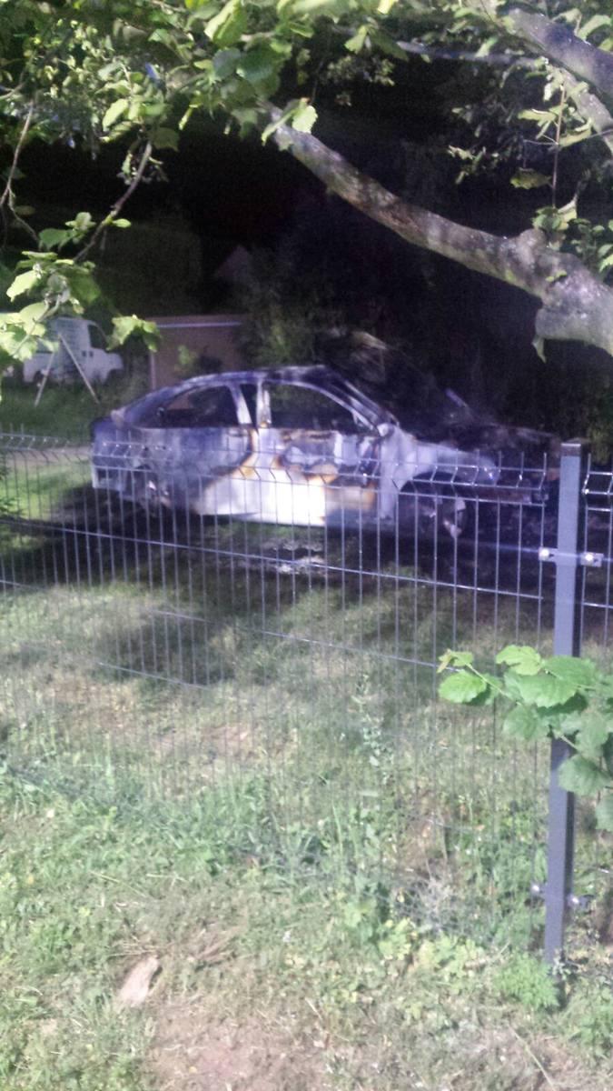 Pożar aut w Szymiszowie.