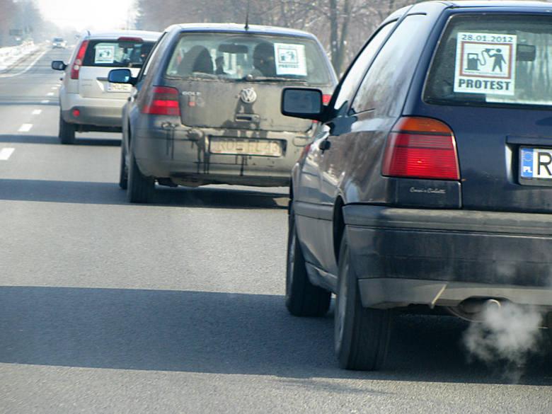 Protest kierowców przeciwko wysokim cenom paliw [zdjęcia]