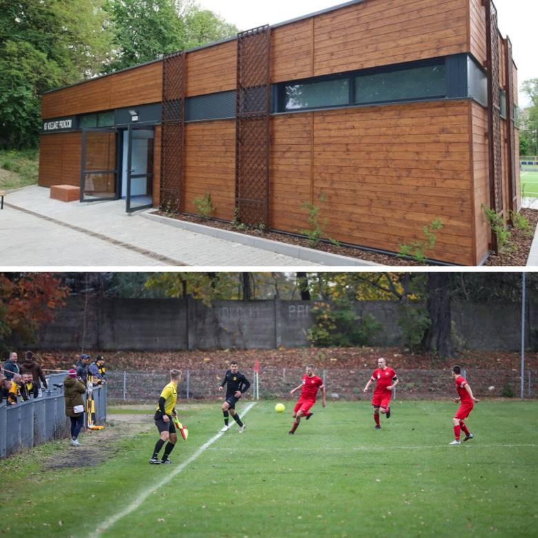 Prokocim. Stadion położony w Parku Jerzmanowskich. W tym roku oddano do użytku nowy budynek klubowy