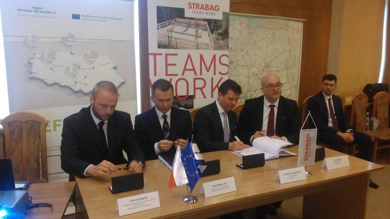 Podpisanie umowy na modernizację odcinka Kraków Główny Towarowy-Rudzice
