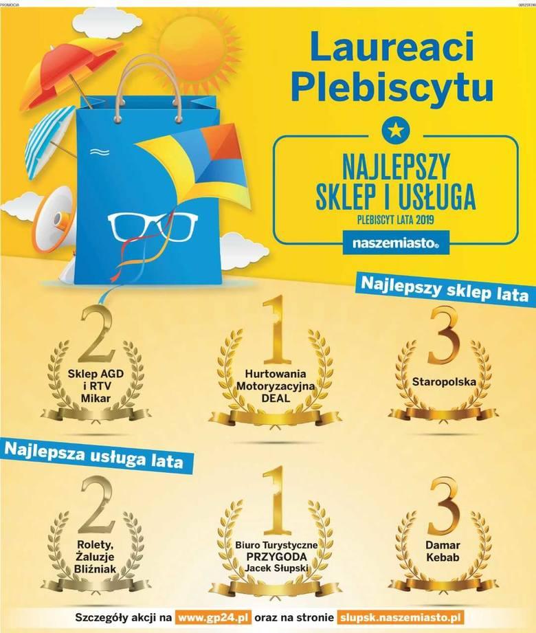 Laureaci plebiscytu Najlepszy Sklep i Usługa Lata