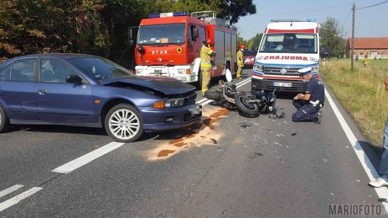 Wypadek w Jasieniu.