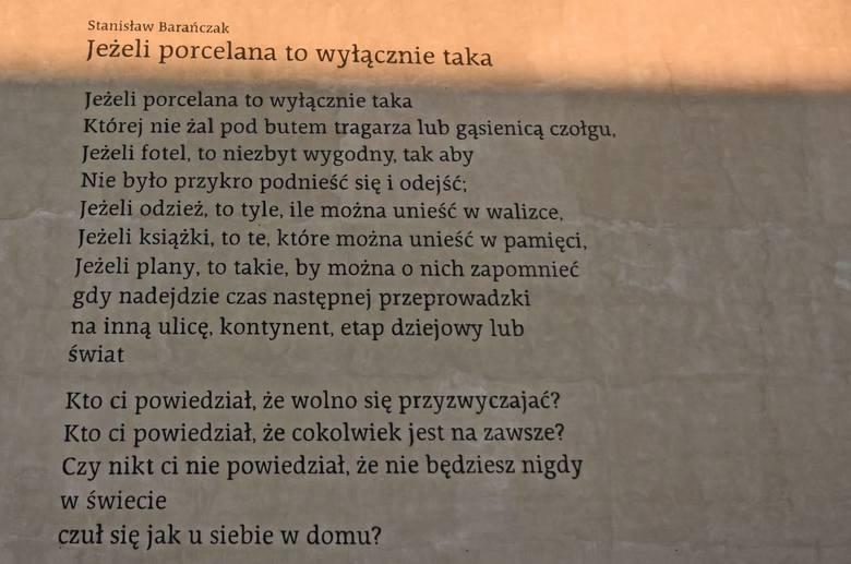 Nowy Mural W Poznaniu Wiersz Stanisława Barańczaka Na