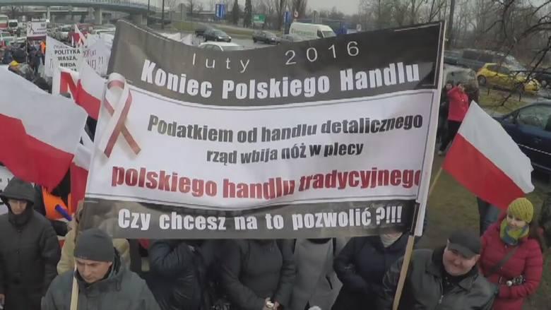 Kilka tysięcy kupców protestowało przed Sejmem
