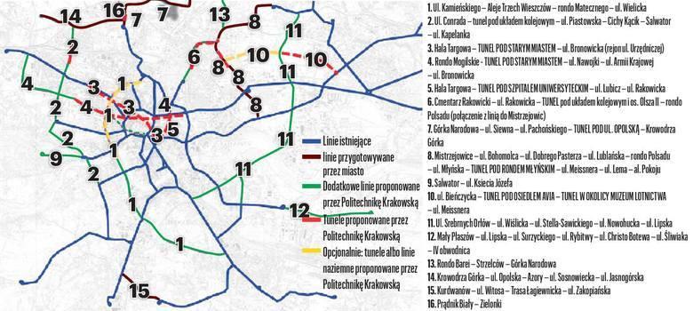 Naukowcy z Politechniki Krakowskiej wskazują nowe torowiska, np. w Alejach Trzech Wieszczów