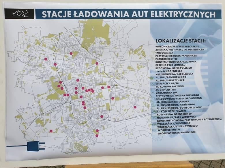 W Łodzi postawią 205 stacji do ładowania elektrycznych aut. Zobacz gdzie