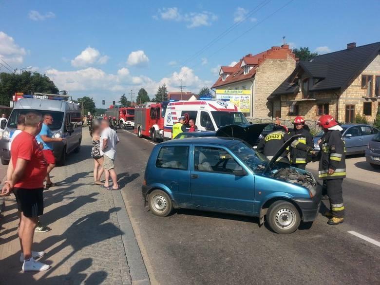 Księżyno. Wypadek. Opel uderzył w cinquecento (zdjęcia)
