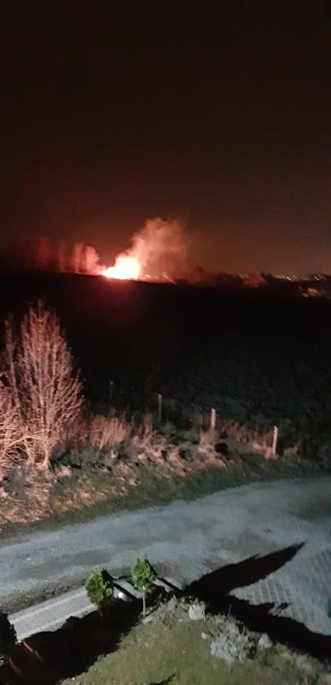 Pożar łąki w pobliżu ul. Spacerowej w Rzeszowie