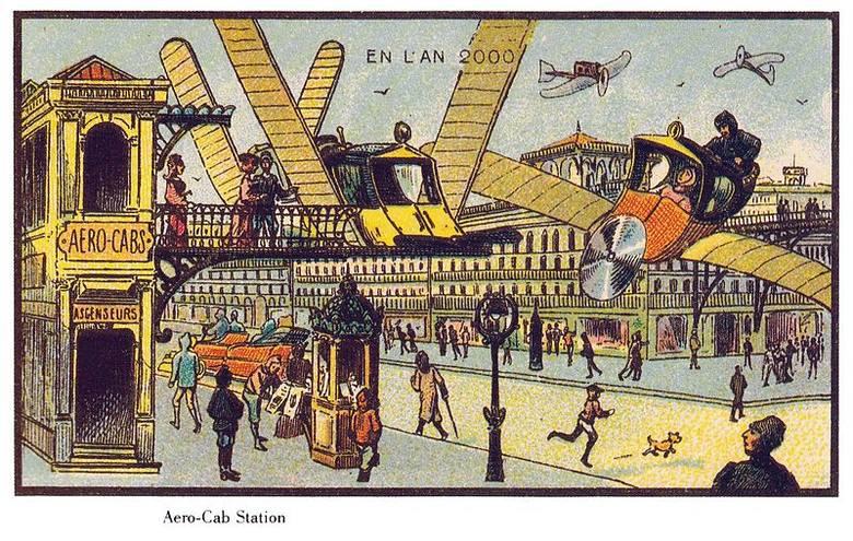 Jak sto lat temu wyobrażano sobie XXI wiek? Francuscy futuryści niewiele się pomylili