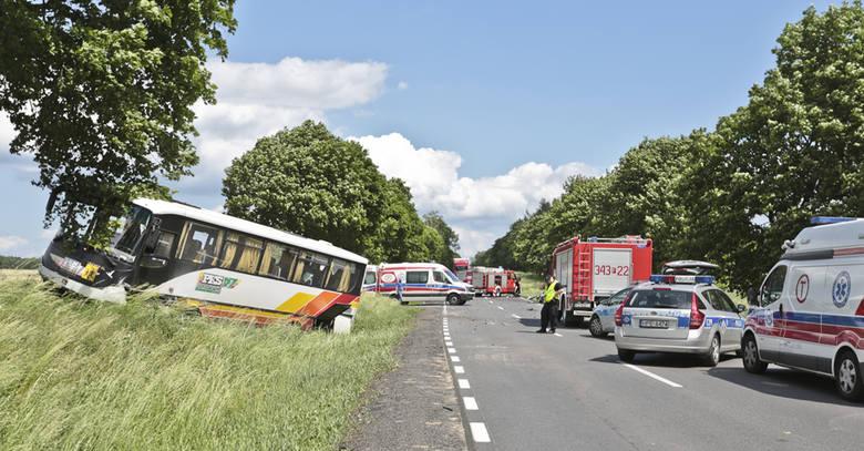 Wypadek autobusu koło Sulechowa