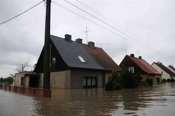 Powódź w Koźlu, maj 2010.