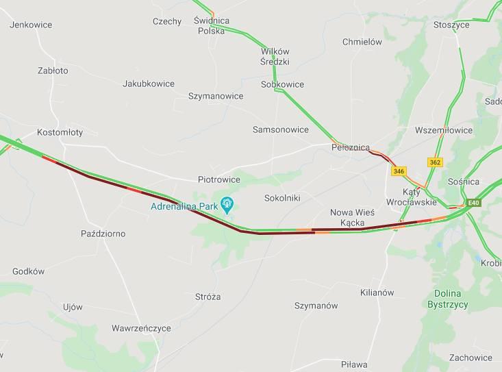 Wypadek na A4 pod Wrocławiem. Uwaga na potężne korki