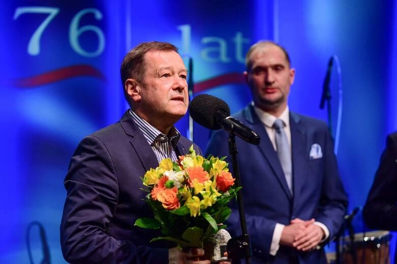 Osobowość Roku 2021 Wojciech Fułek. W tle Adam Chmielecki, prezes Radia Gdańsk