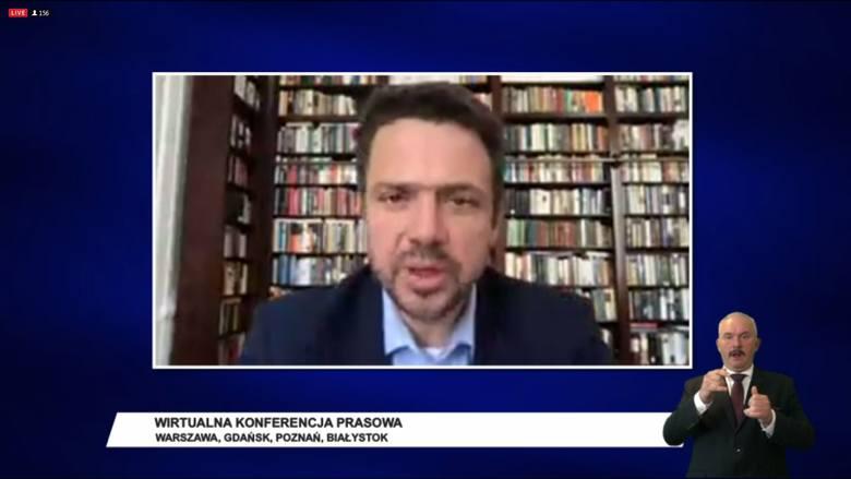 Natomiast prezydent Warszawy Rafał Trzaskowski podkreślał, że obywatele pytają o utrzymanie miejsc pracy, sytuację służby zdrowia itd. - Tym powinny się zajmować samorządy, a nie wyborami! - stwierdził.