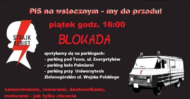W piątek 30 października odbył się kolejny protest samochodowy w Zielonej Górze.