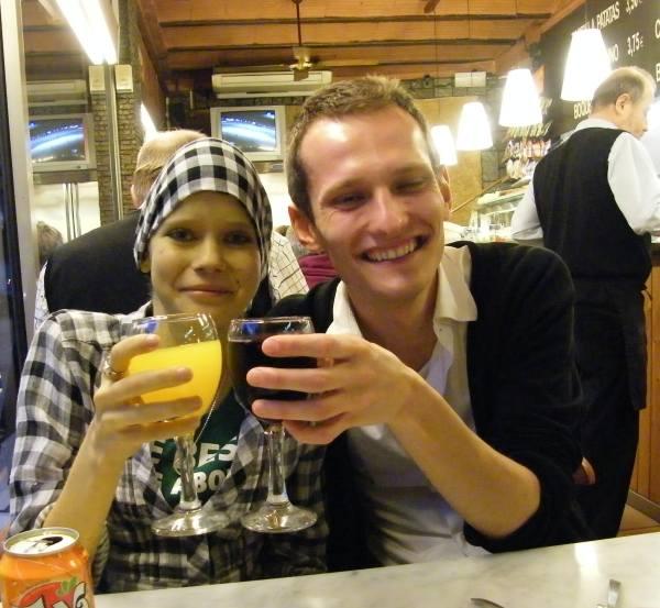 Agnieszka z kuzynem w Barcelonie. Ona też była na jej liście marzeń.