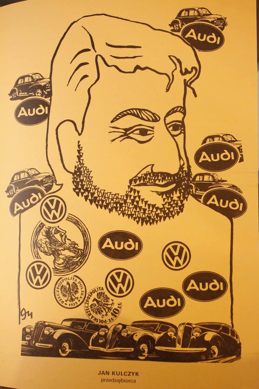 Stanisław Mrowiński narysował ponad 600 karykatur w tym Jana Kulczyka