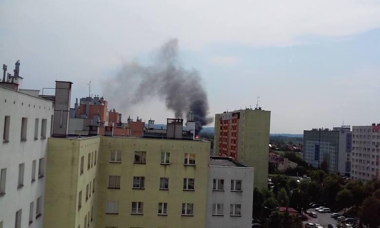 Pożar na ul. Kwiatkowskiego