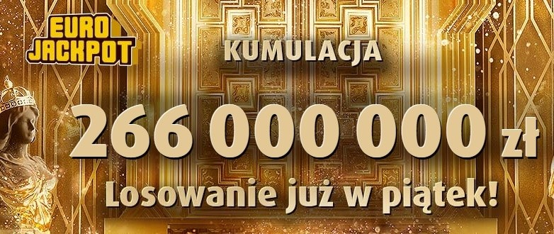 Eurojackpot result August 31, 2018  Today the root is 266 million