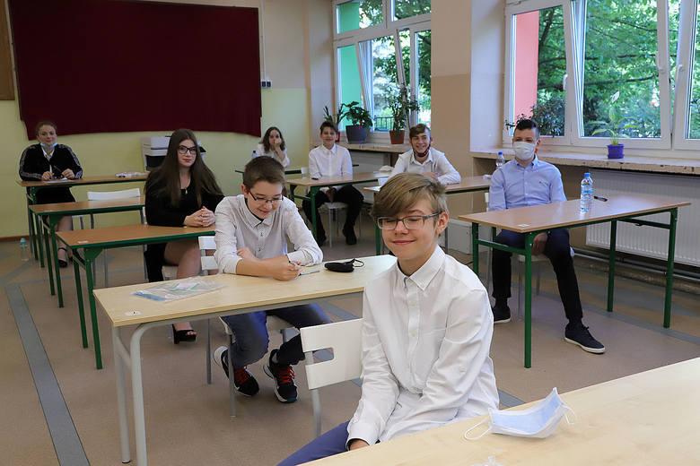 Egzamin ósmoklasisty w SP 34 w Łodzi