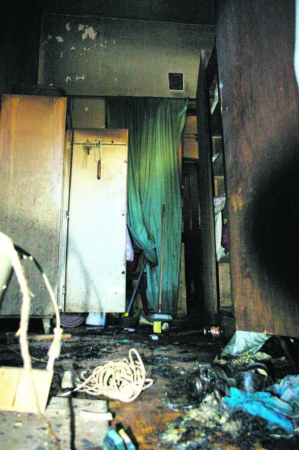 Spaleniu uległo wyposażenie mieszkania.