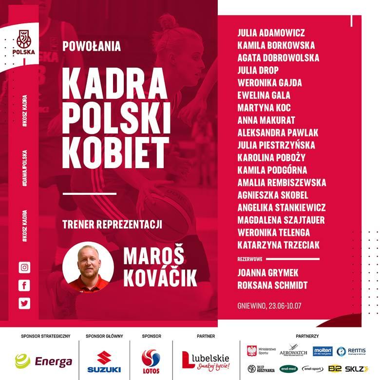 Koszykarka Pszczółki Polski-Cukier AZS UMCS Lublin Karolina Poboży otrzymała powołanie do reprezentacji Polski