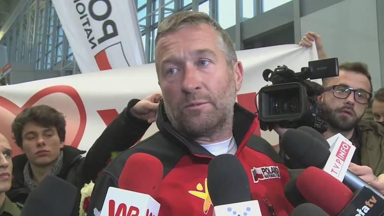 Rafał Sonik po powrocie do Polski.
