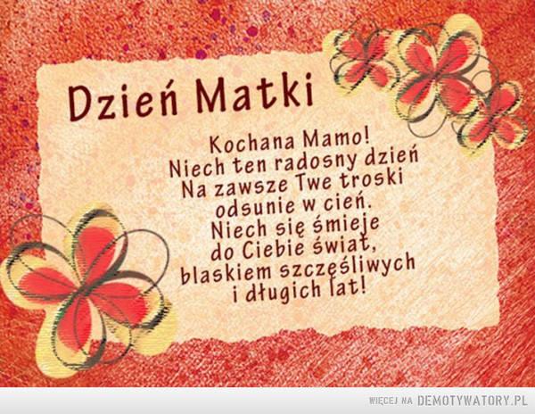 Życzenia na Dzień Matki 2021. Śmieszne i poważne [WIERSZYKI, OBRAZKI, ŻYCZENIA SMSOWE I RYMOWANE] - Polskatimes.pl