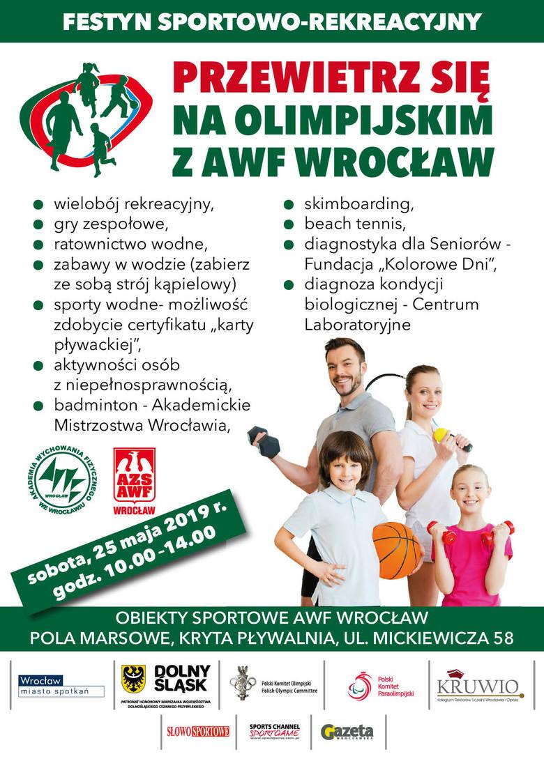 Wielki festyn na Polach Marsowych - Przewietrz się na Olimpijskim z AWF Wrocław