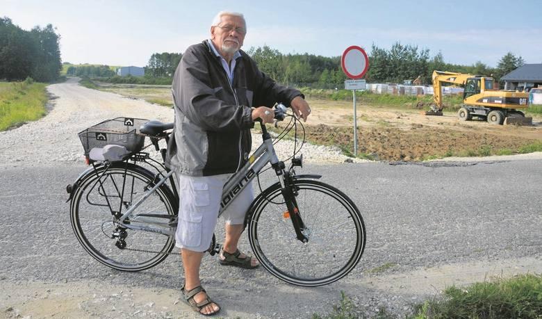 Jan Łucek martwi się, że tempo prac na obwodnicy Dąbrowy Tarnowskiej spadło w ostatnim czasie