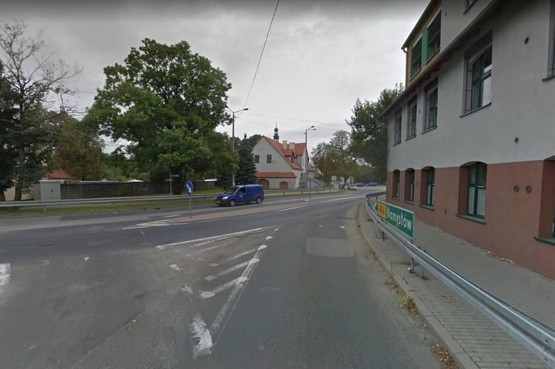 Skrzyżowanie ulic Jagiełły i Krzanowickiej w Opolu