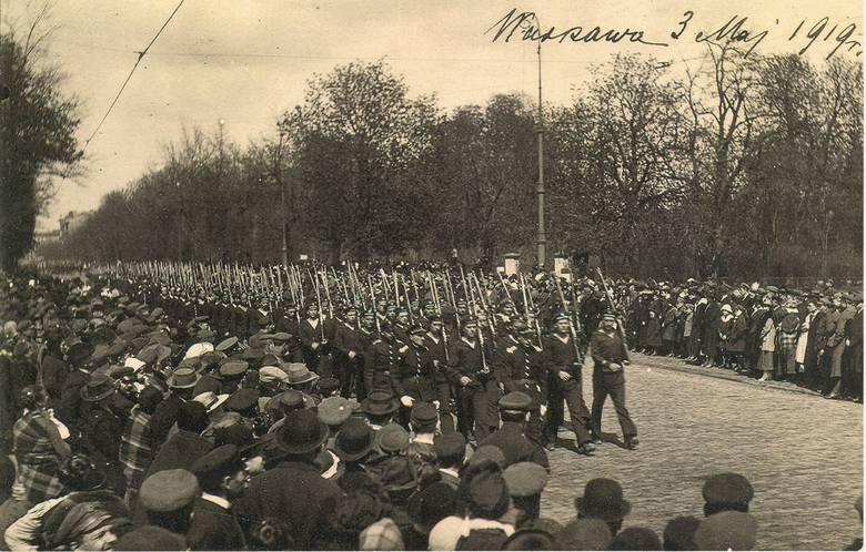 Defilada I Batalionu Morskiego, Warszawa, 3.05. 1919