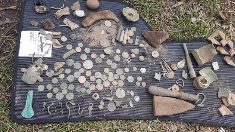 Część znalezisk m.in. z Puszczy Bydgoskiej