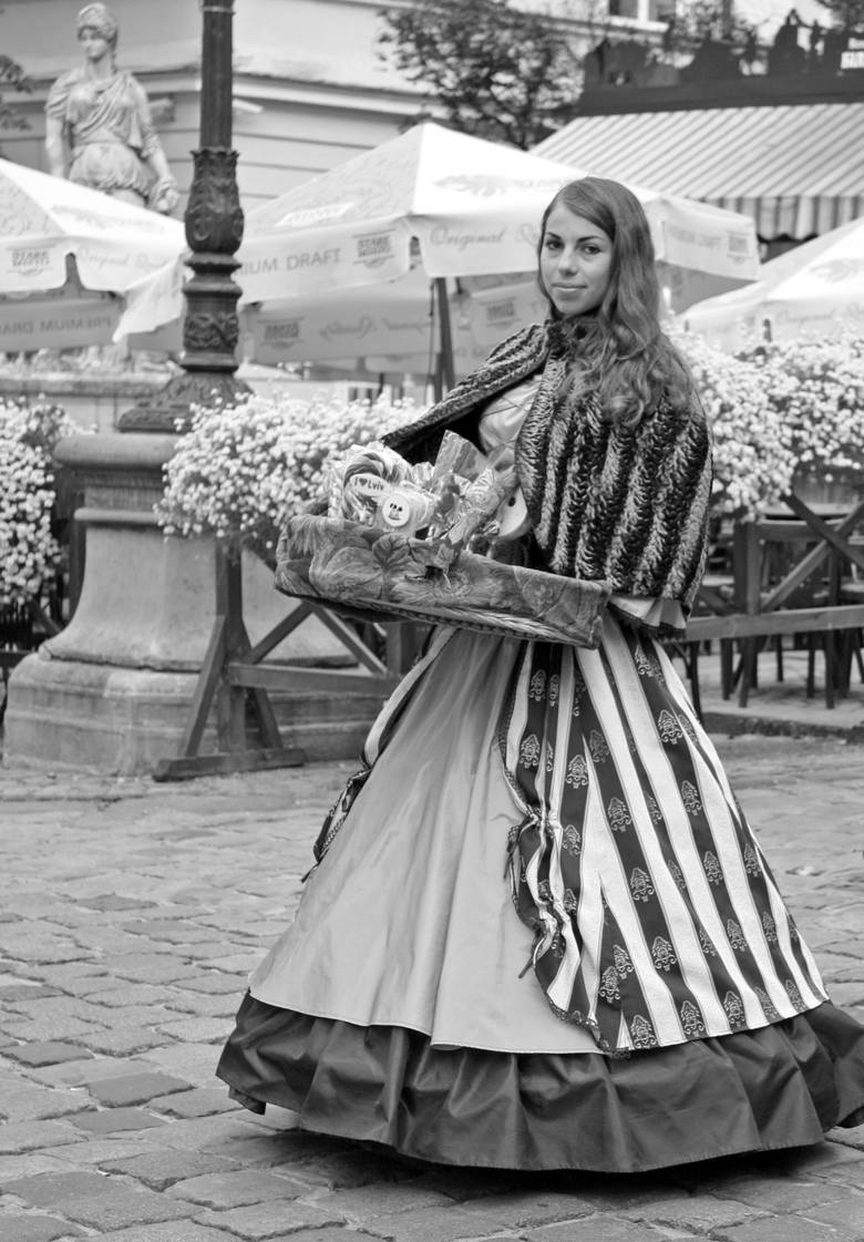 Lwowska scenka ze starego miasta
