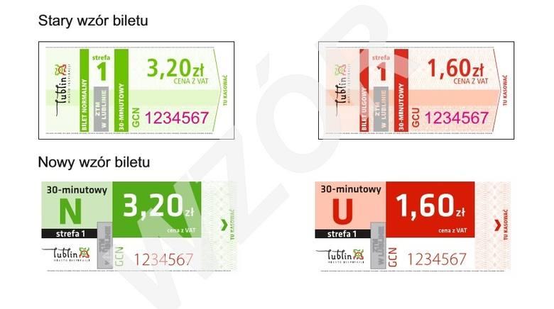 Tak obecnie zmieni się wygląd biletów komunikacji miejskiej w Lublinie.