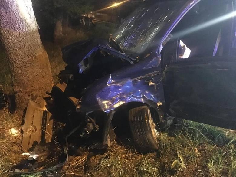Do wypadku na ulicy Kościuszki w Popielowie doszło w poniedziałek około godz. 19.00. Kierowca samochodu osobowego prawdopodobnie nie dostosował prędkości