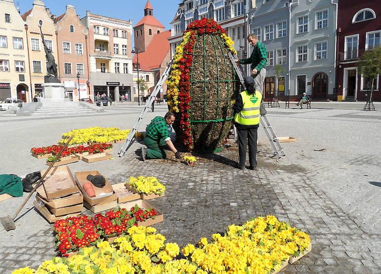 Wielkanocne dekoracje w mieście - Grudziądz