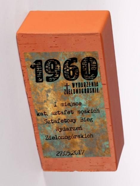 Statuetka dla zwycięzców biegu z okazji 58. Rocznicy Wydarzeń Zielonogórskich 1960.