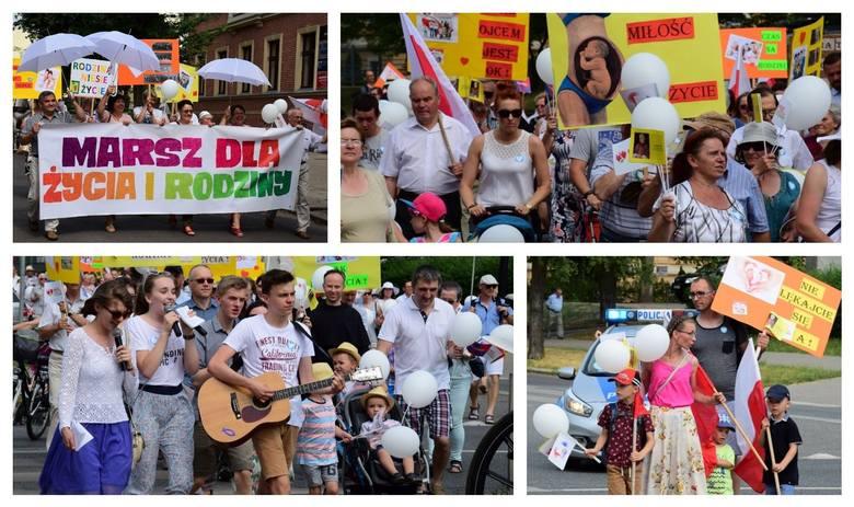 """Marsz dla Życia i Rodziny przeszedł dziś ulicami ponad 60 polskich miast, w tym również i w Inowrocławiu.Marsze, jak informują organizatorzy, """"organizowane"""