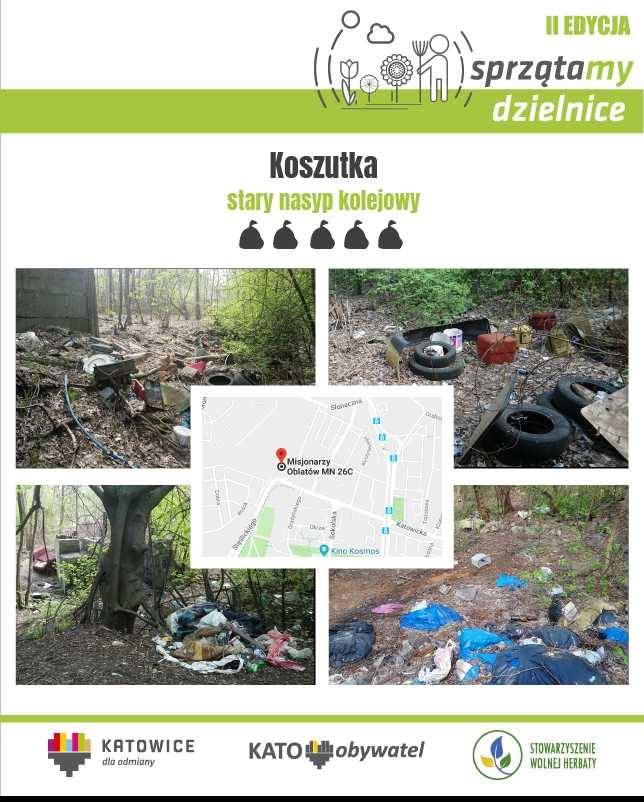 W Katowicach trwa głosowanie na najbardziej... zaśmiecone przestrzenie miasta