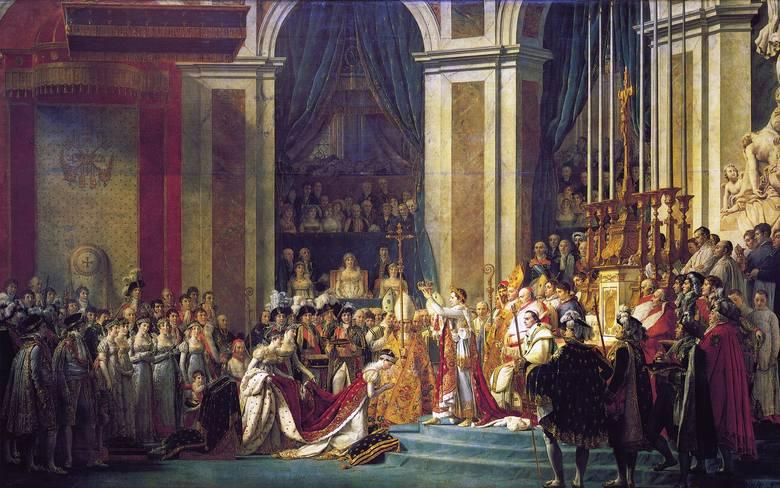 W Notre Dame odbyła się pamiętna koronacja cesarza Napoleona I.  Bonaparte sam nałożył ją sobie na głowę 2 grudnia 1804 roku. Korona Napoleona to dzieło