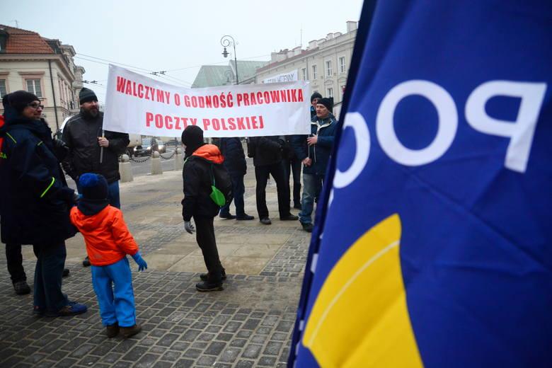 Protesty pracowników Poczty Polskiej odbyły się już m.in. w Lublinie i Wrocławiu
