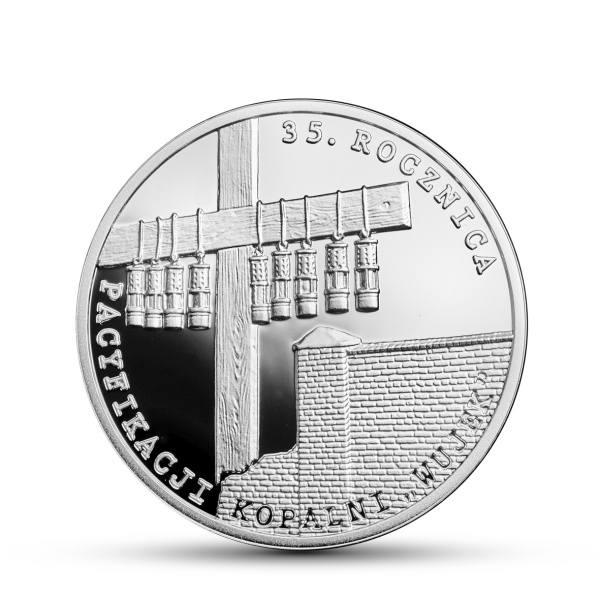 """Nowa moneta NBP upamiętniająca rocznicę pacyfikacji kopalni """"Wujek"""