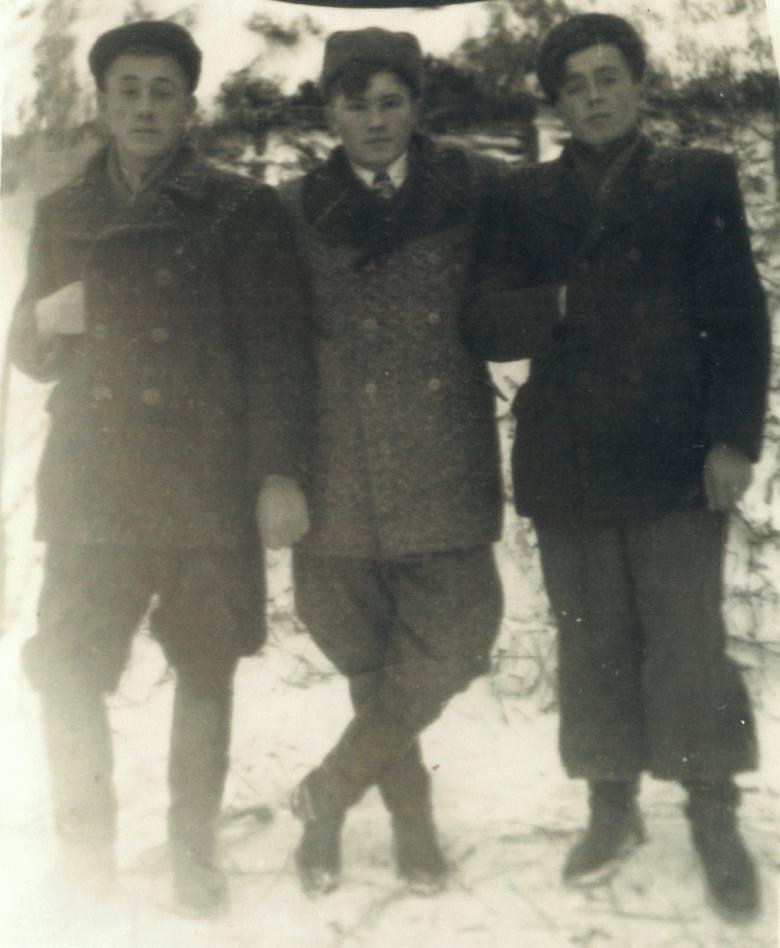 Rydoduby, połowa lat 50. Od lewej: Zenon Borowski, Czesław Wierzbicki i Stanisław