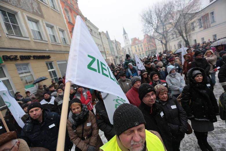Demonstracja KOD w Zielonej Górze