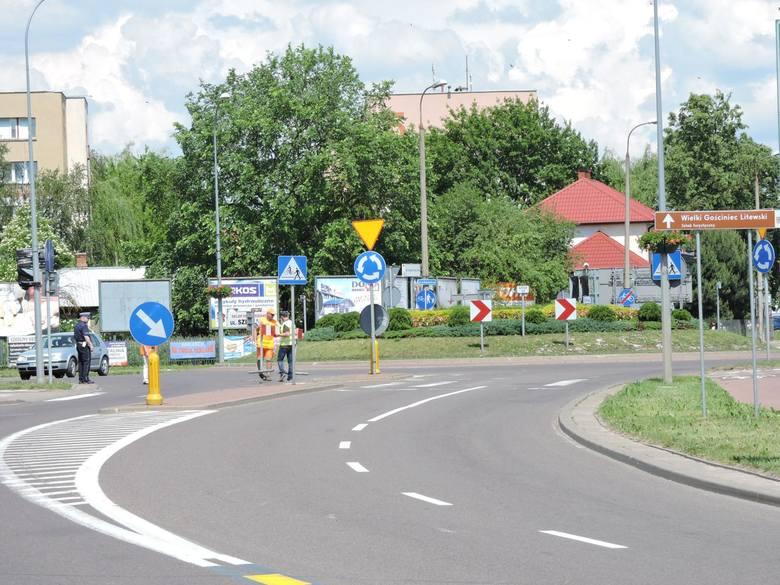 Bielsk Podlaski, skrzyżowanie dróg dk19 i dk66