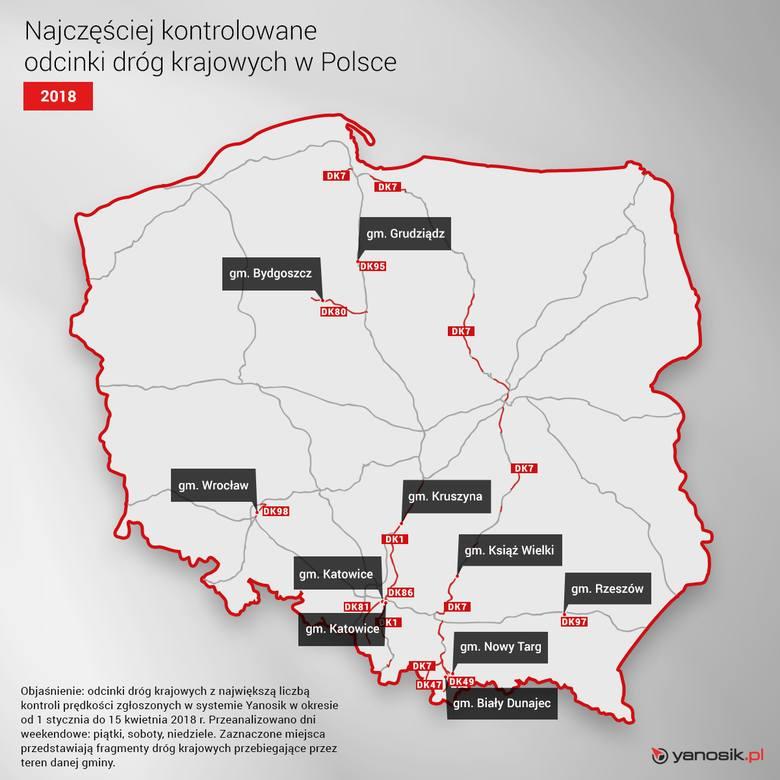 Kontrola policyjna może spotkać każdego. Najczęściej kontrolowane drogi w Polsce i drogi, na których najczęściej są wypadki [TOP 10]