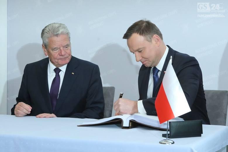 Prezydenci Duda i Gauck w Koszarach Bałtyckich