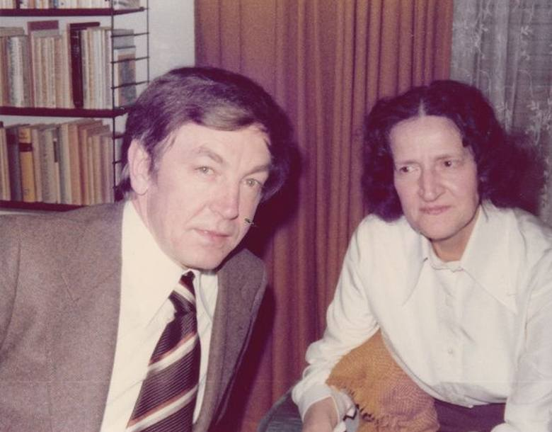 Heinz Piontek z matką w roku 1978.