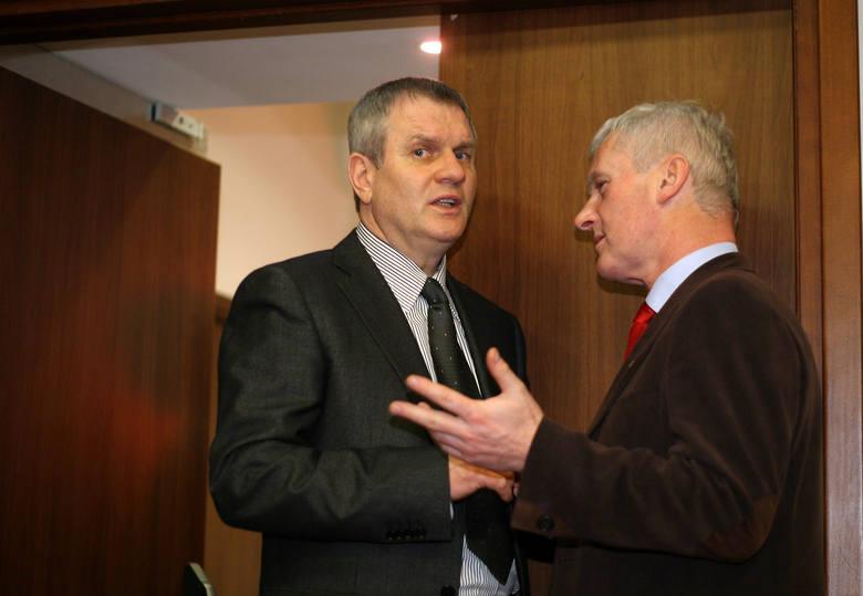 Z byłym prezezem PZPN, Michałem Listkiewiczem.